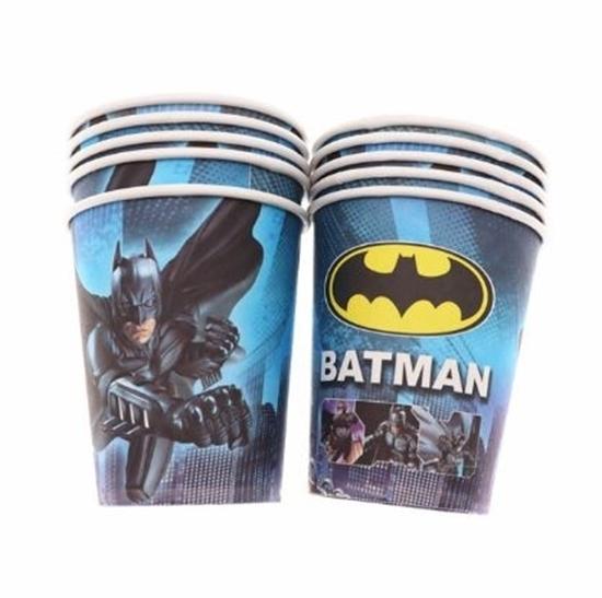 صورة Paper Cup BATMAN 10 PCs - 8.2 x 7.2 Cm