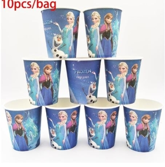 Picture of Paper Cup FROZEN 10 PCs - 8.2 x 7.2 Cm
