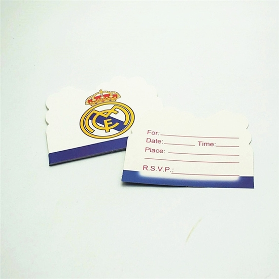 صورة Invitation Cards REAL MADRID 10 PCs - 14 x 11 Cm