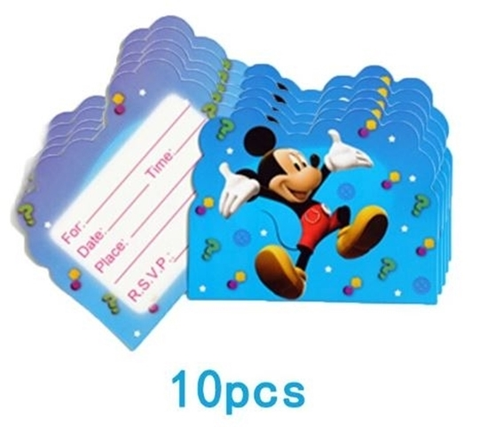 Picture of Invitation Cards MICKEY 10 PCs - 14 x 11 Cm