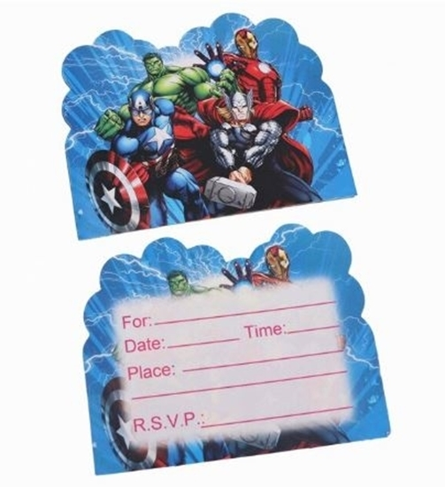 Picture of Invitation Cards HEROES 10 PCs - 14 x 11 Cm