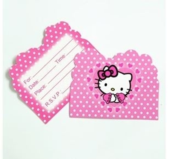 Picture of Invitation Cards HELLO KITTY 10 PCs - 14 x 11 Cm