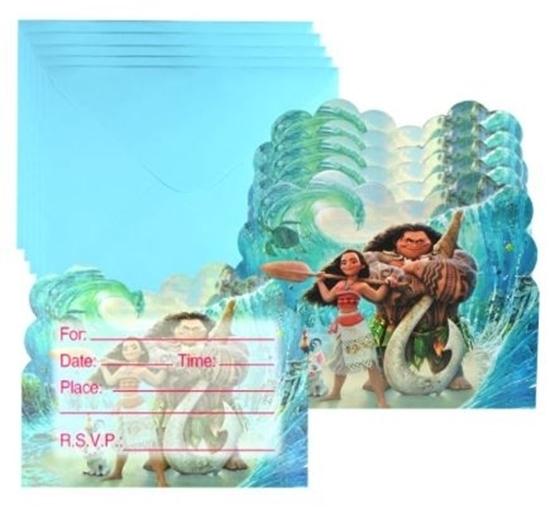صورة Invitation Cards MOANA 10 PCs - 14 x 11 Cm