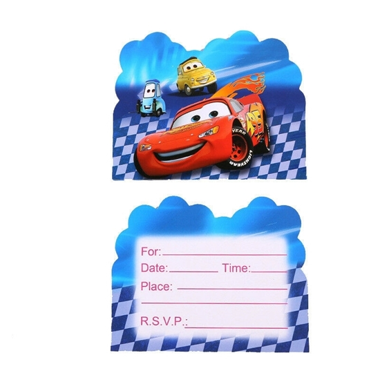 Picture of Invitation Cards MCQUEEN CAR 10 PCs - 14 x 11 Cm
