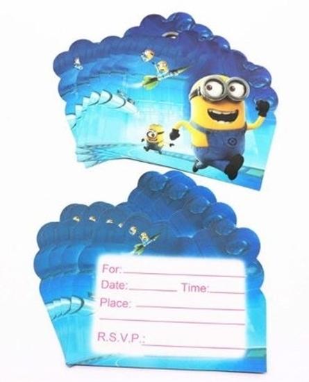 صورة Invitation Cards MINIONS 10 PCs - 14 x 11 Cm