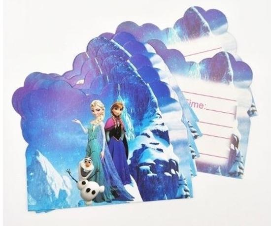 Picture of Invitation Cards FROZEN 10 PCs - 14 x 11 Cm
