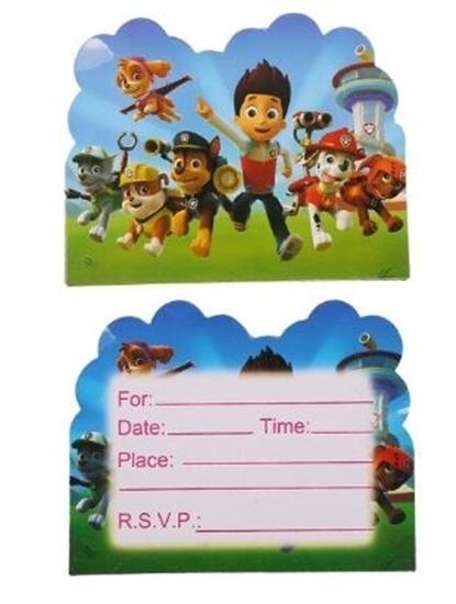 صورة Invitation Cards PAW PATROL 10 PCs - 14 x 11 Cm