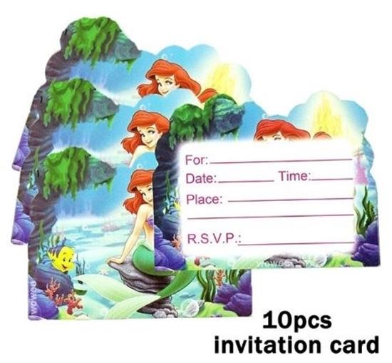 Picture of Invitation Cards MERMAID 10 PCs - 14 x 11 Cm