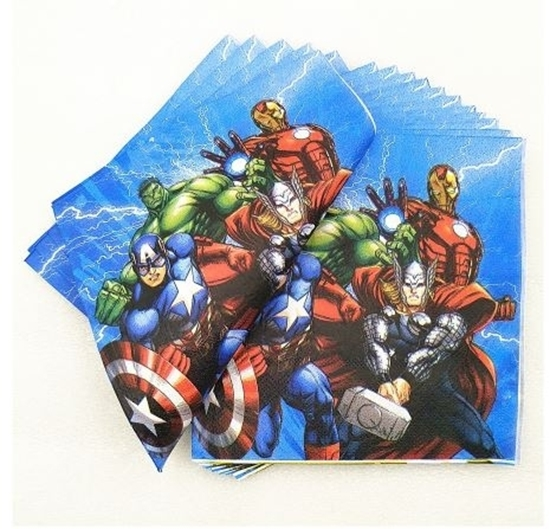 Picture of Napkins HEROES 20 PCS - 16.4 x 16.4 Cm