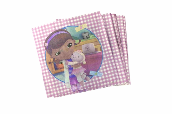 Picture of Napkins DR MCSTUFFIN 20 PCS - 16.4 x 16.4 Cm