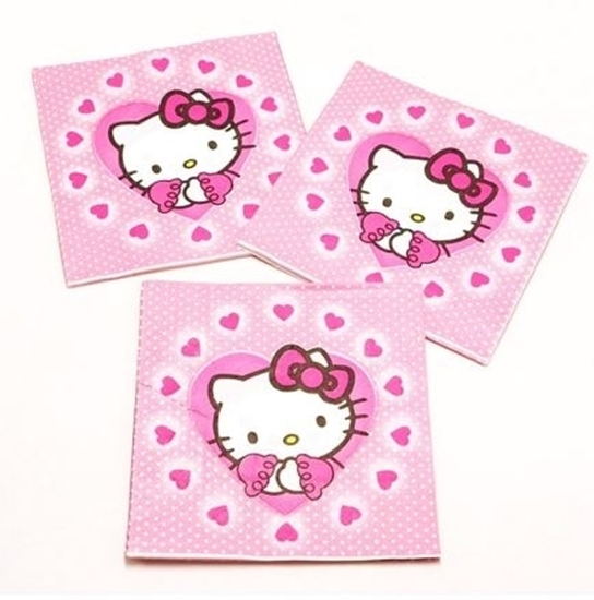 Picture of Napkins HELLO KITTY 20 PCS - 16.4 x 16.4 Cm