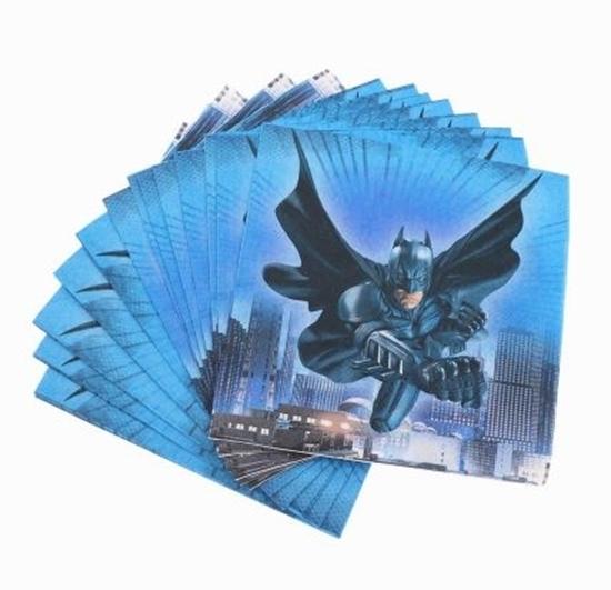 صورة Napkins BATMAN 20 PCS - 16.4 x 16.4 Cm