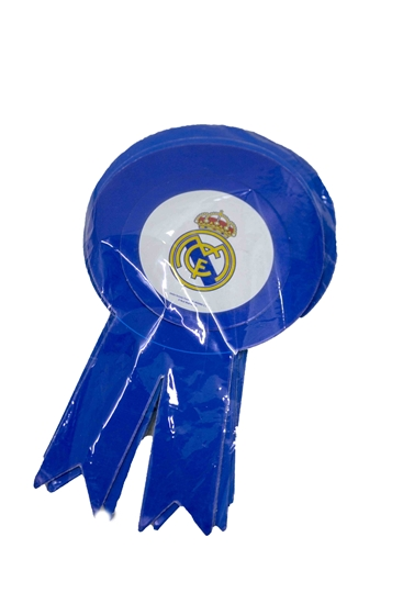 صورة Party Badge REAL MADRID 10 PCS - 15.5 x 9 Cm
