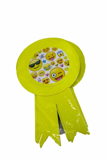 صورة Party Badge EMOJI 10 PCS - 15.5 x 9 Cm