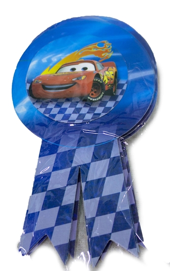 Picture of Party Badge MCQUEEN CAR 10 PCS - 15.5 x 9 Cm