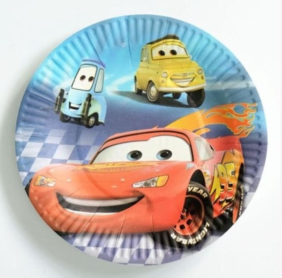 Picture of Paper Plate MCQUEEN CAR 10 PCs - 18 Cm
