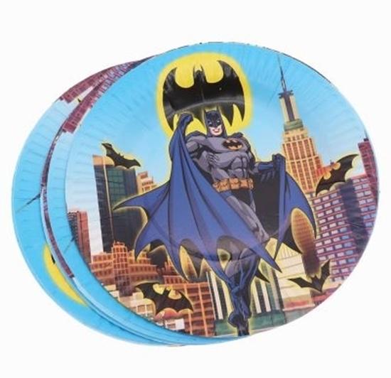 صورة Paper Plate BATMAN  10 PCs - 18 Cm