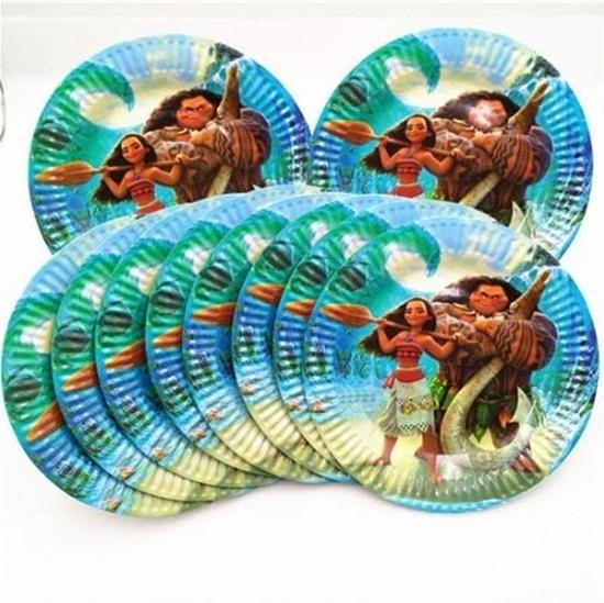 صورة Paper Plate MOANA 10 PCs - 18 Cm