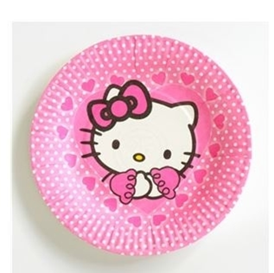 Picture of Paper Plate HELLO KITTY 10 PCs - 18 Cm