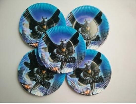 صورة Paper Plate BATMAN  10 PCs - 23 Cm