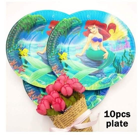 Picture of Paper Plate MERMAID 10 PCs - 23 Cm