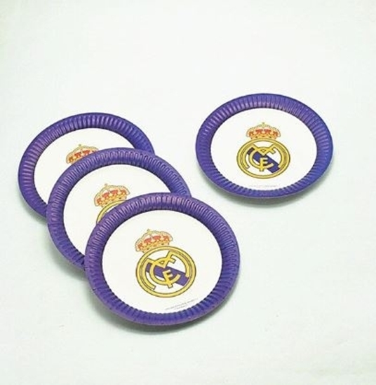 صورة Paper Plate REAL MADRID 10 PCs - 23 Cm