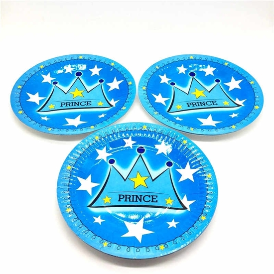 Picture of Paper Plate PRINCE CROWN 10 PCs - 23 Cm