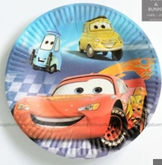 Picture of Paper Plate MCQUEEN CAR 10 PCs - 23 Cm