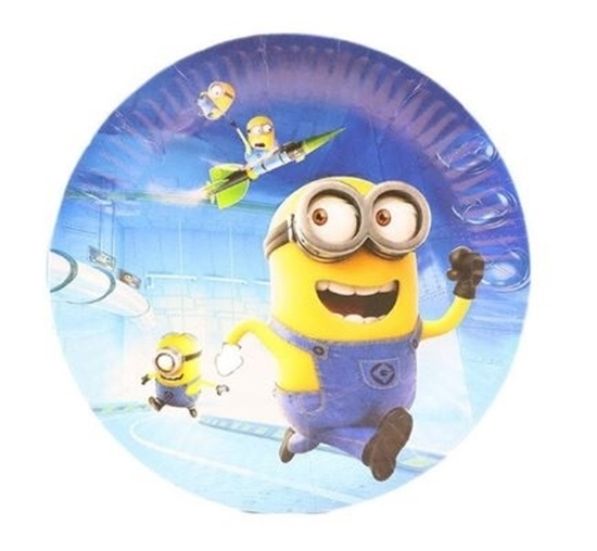 Picture of Paper Plate MINIONS 10 PCs - 23 Cm