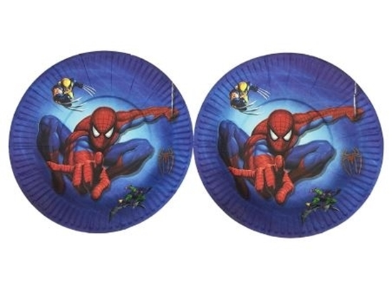 Picture of Paper Plate SPIDERMAN 10 PCs - 23 Cm