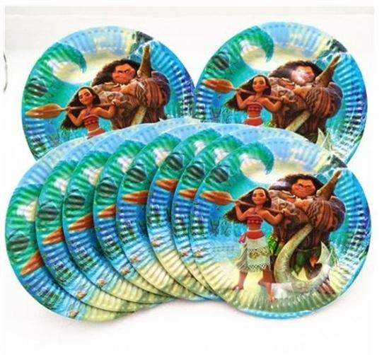 صورة Paper Plate MOANA 10 PCs - 23 Cm