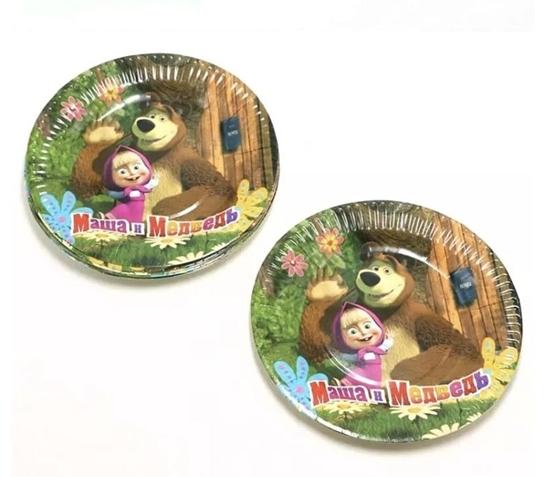 صورة Paper Plate MASHA AND THE BEAR 10 PCs - 23 Cm
