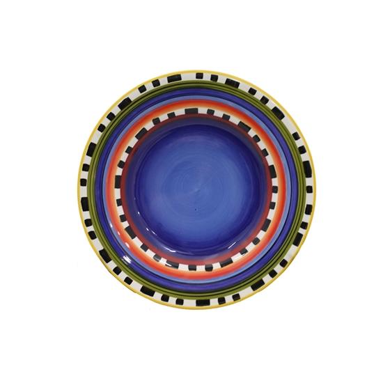 صورة طبق ملوّن من السيراميك - قطر 27 سم