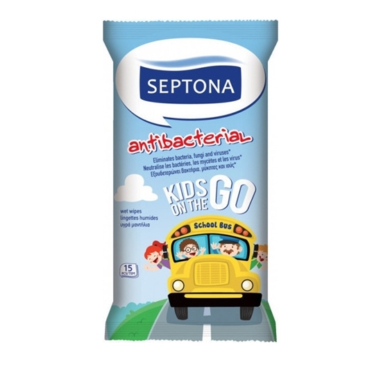 Picture of Septona - Kids on the Go Wipes (15 Refreshing Wipes)
