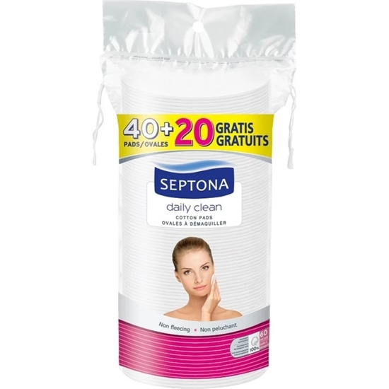 Picture of Septona - Oval Double-Faced Cotton Pads (40+20 PCs)