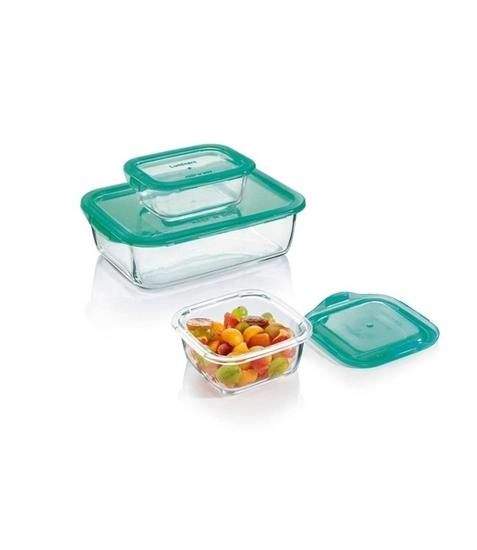 صورة Luminarc - Square Keep N Box set of 3 containers