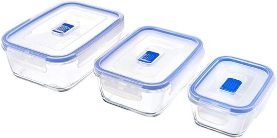 صورة Luminarc - Rectangular Pure Box Active set of 3 containers
