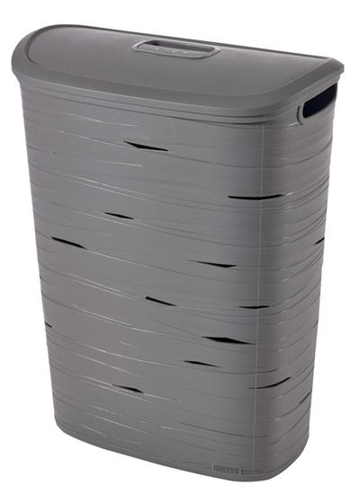 Picture of Curver - Ribbon Grey Plastic Lid 47 L - 46 x 27 x 59 Cm