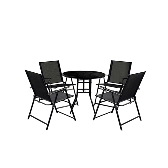Picture of Black Outdoor Table & Chair - (1+4)