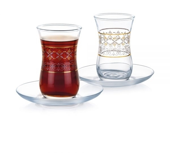 صورة Luminarc - Estakan ZARI Cup & Saucer, Set of 6, 12 PC