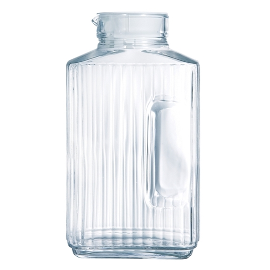 صورة Luminarc - Pitcher Quadro Jug with White Lid, 2 L