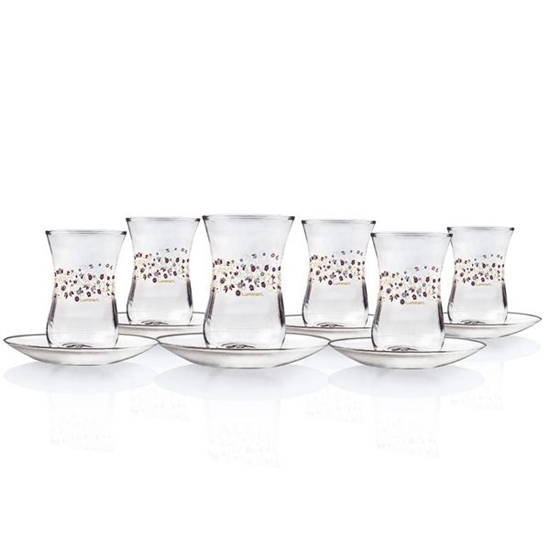 صورة Luminarc - Estakan Lovinette Cup & Saucer, Set of 6, 12 PC
