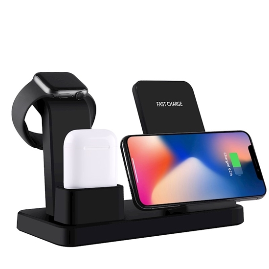 Picture of Wireless Charging Stand 3 in 1 - 18 x 12 Cm