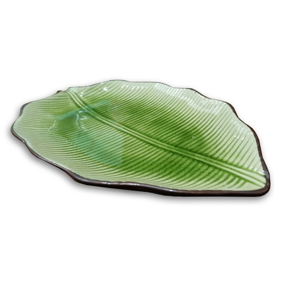 Picture of Green Leaf Plate - 29.2 Cm