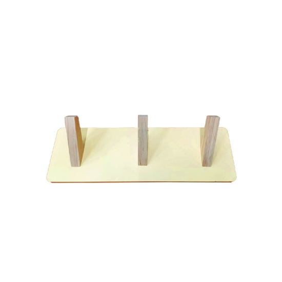 Picture of Wooden Wall-Mounted Hook Rail - 34 x 11 Cm