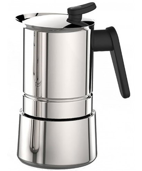 صورة Pedrini - Pressure Steel Coffee Maker - 13 x 9 x 18 Cm