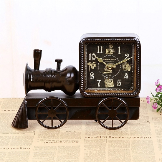 صورة Train Table Clock - 27 x 21 Cm