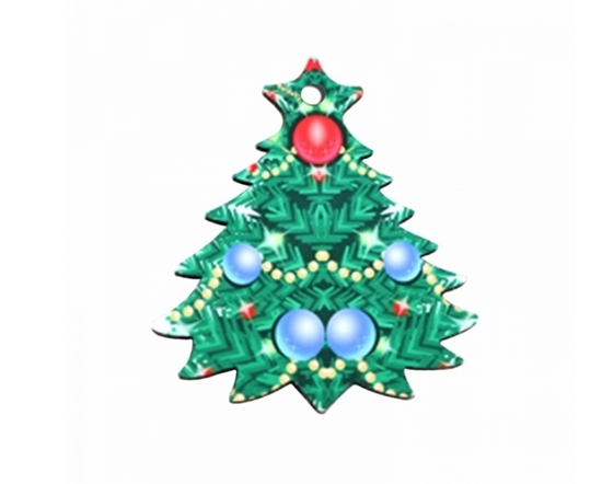 Picture of Christmas Tree Shape Pendant - 7.3 x 6.5 Cm