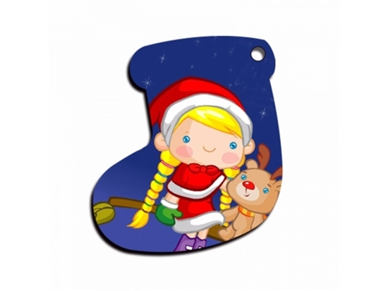 Picture of Christmas Stocking Shape Pendant - 7 x 5.5 Cm